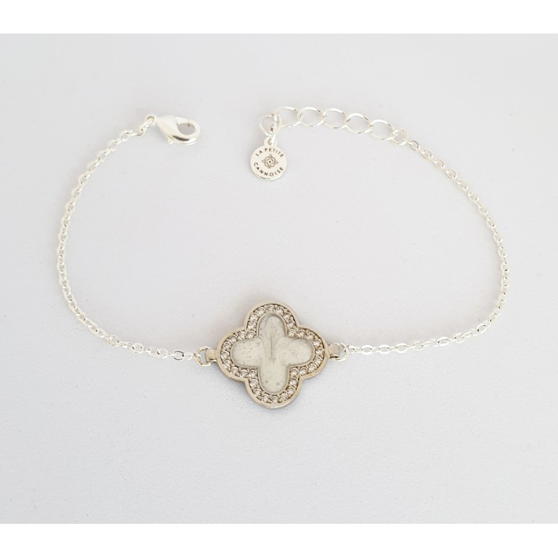 bracelet argent trefle